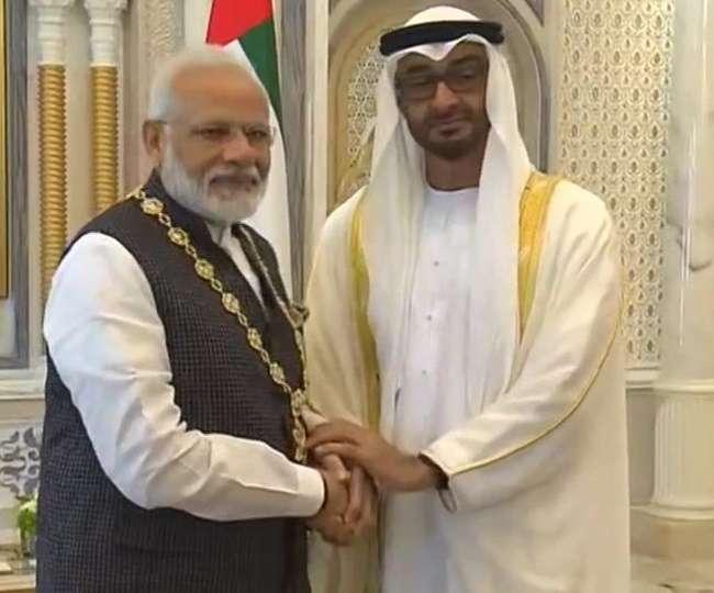 प्रधानमंत्री मोदी को यूएई ने किया 'ऑर्डर ऑफ जायद' से सम्मानित